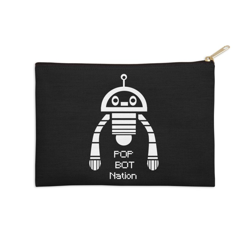 POP BOT NATION Accessories Zip Pouch by POP COLOR BOT