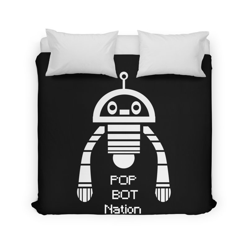 POP BOT NATION Home Duvet by POP COLOR BOT