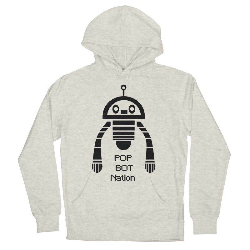DARK BOT NATION Men's Pullover Hoody by POP COLOR BOT