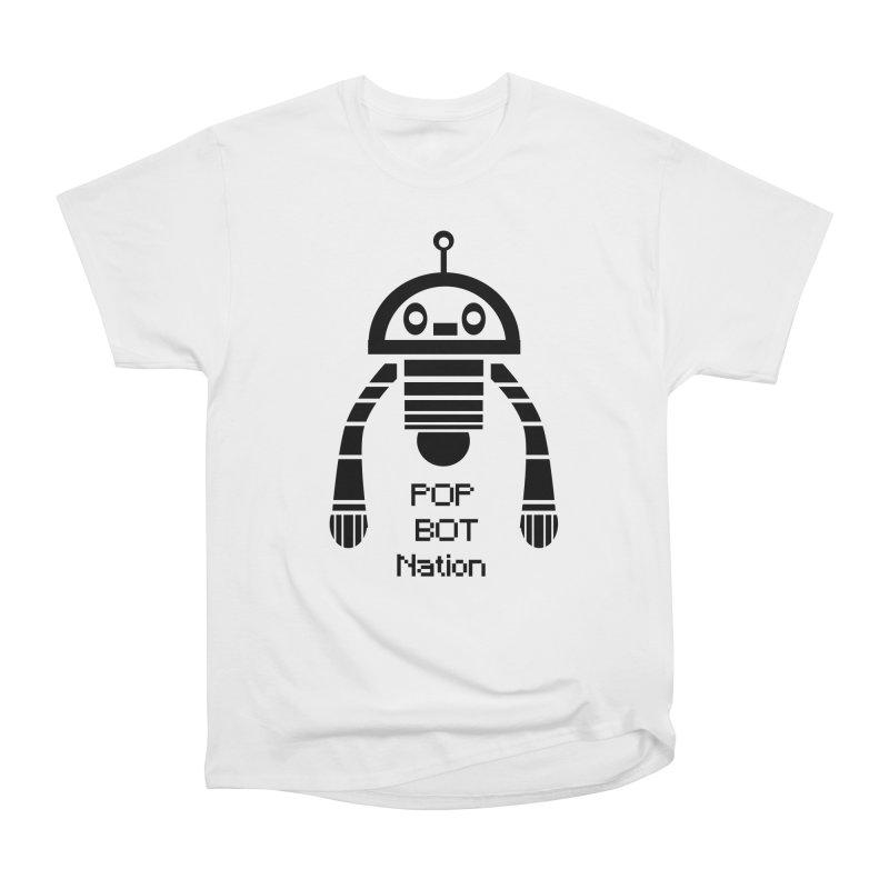 DARK BOT NATION Men's Heavyweight T-Shirt by POP COLOR BOT