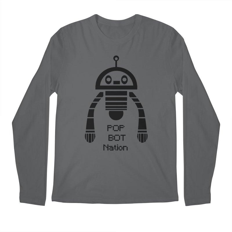 DARK BOT NATION Men's Longsleeve T-Shirt by POP COLOR BOT