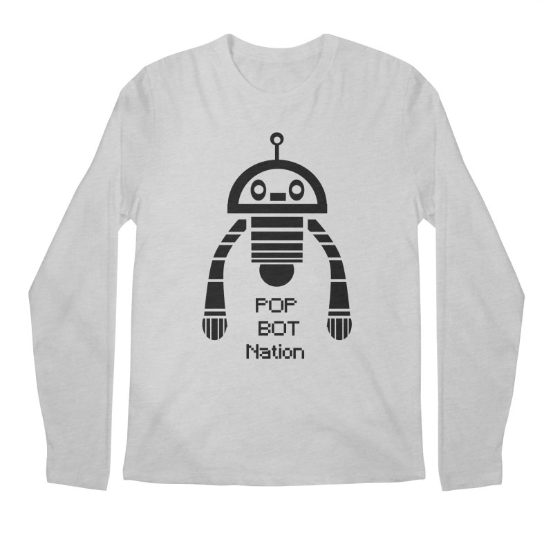 DARK BOT NATION Men's Longsleeve T-Shirt by POP COLOR BOT