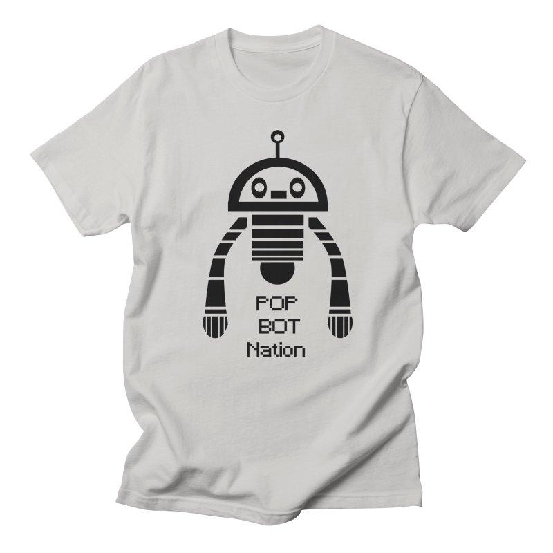 DARK BOT NATION Men's T-shirt by POP COLOR BOT