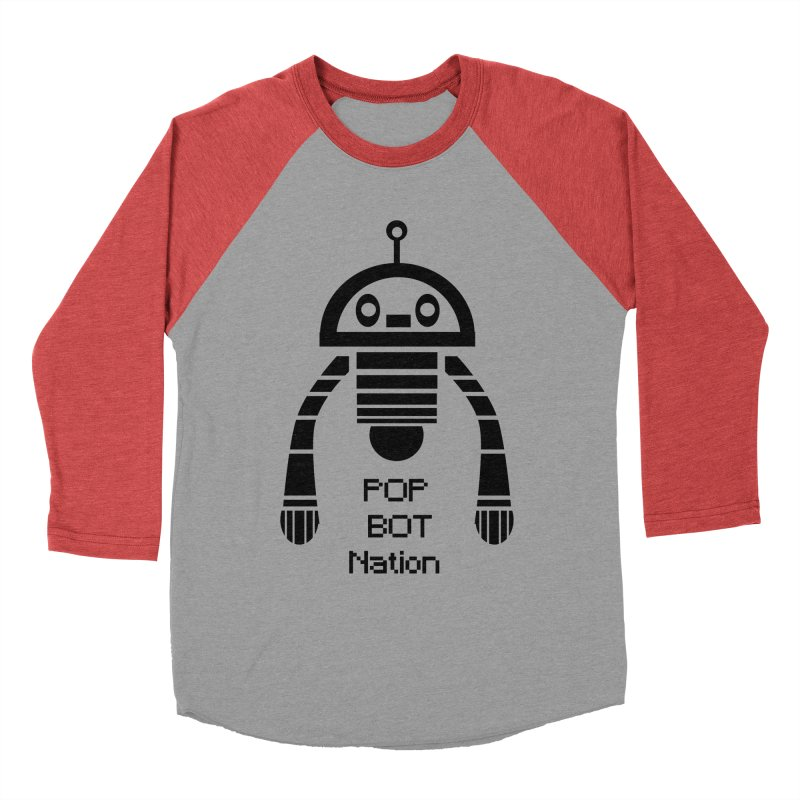 DARK BOT NATION Men's Baseball Triblend T-Shirt by POP COLOR BOT