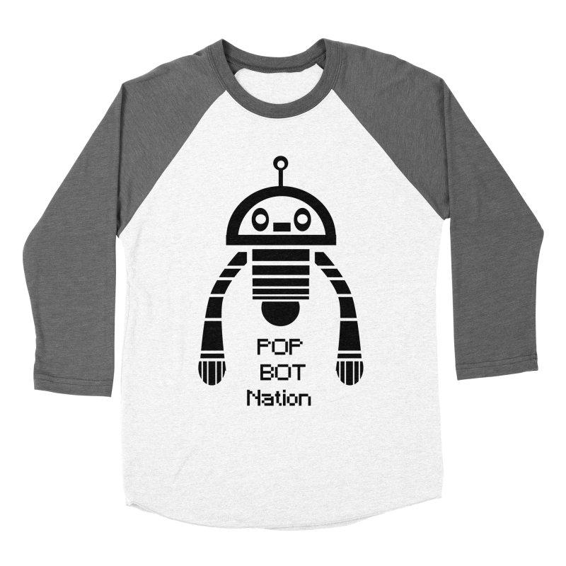DARK BOT NATION Men's Baseball Triblend T-Shirt by POP COLOR BOT