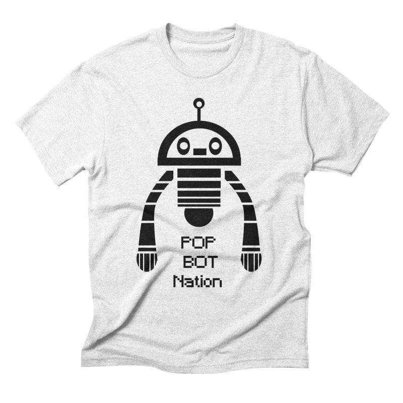 DARK BOT NATION Men's Triblend T-shirt by POP COLOR BOT