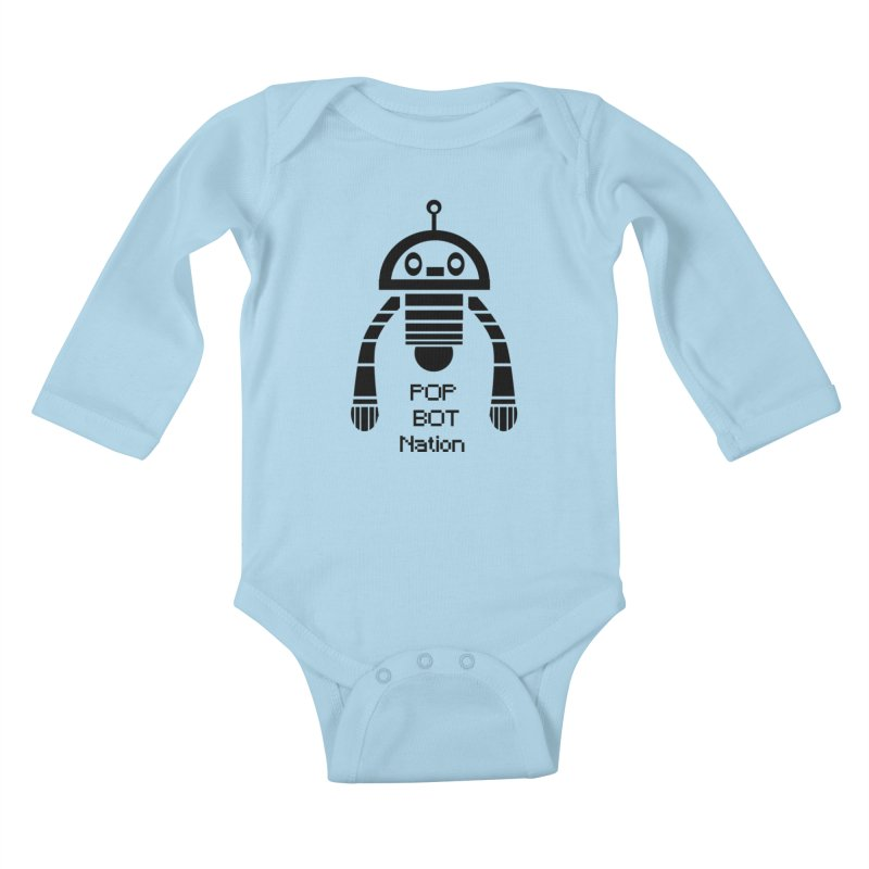 DARK BOT NATION Kids Baby Longsleeve Bodysuit by POP COLOR BOT