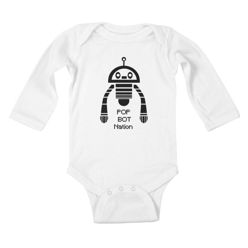 DARK BOT NATION Kids Baby Longsleeve Bodysuit by POP COLOR BOT