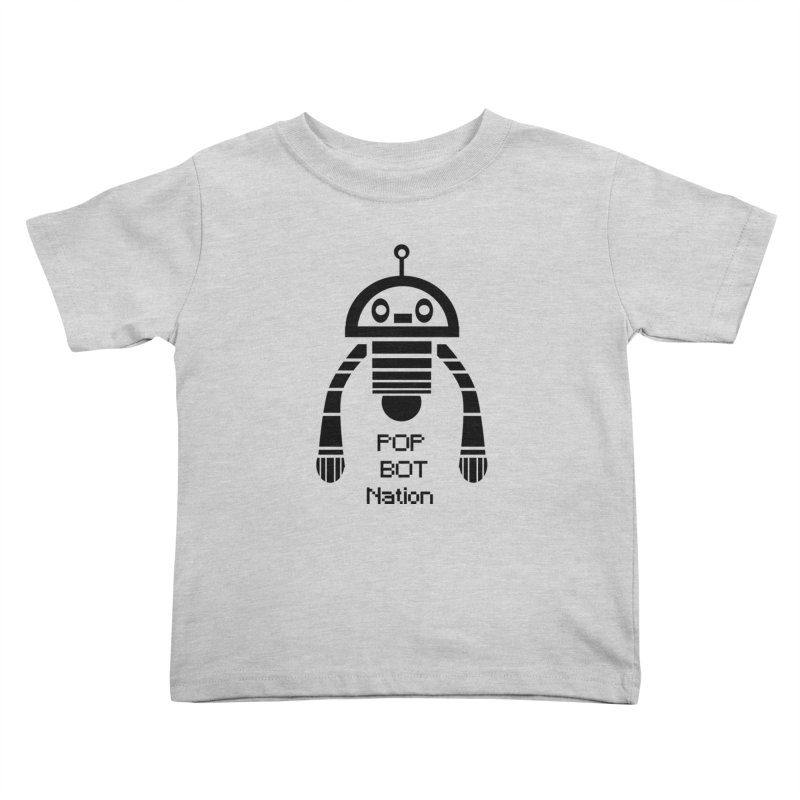 DARK BOT NATION Kids Toddler T-Shirt by POP COLOR BOT