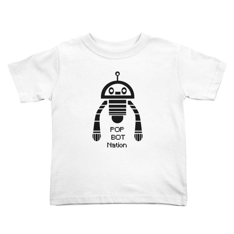 DARK BOT NATION Kids Toddler T-Shirt by POP COLOR BOT