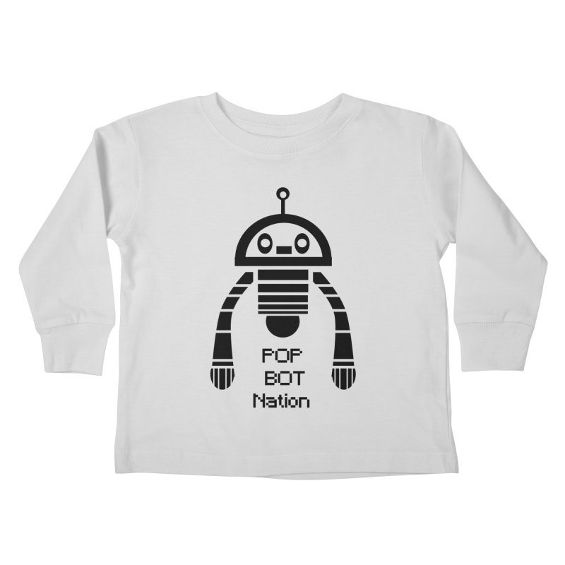 DARK BOT NATION Kids Toddler Longsleeve T-Shirt by POP COLOR BOT