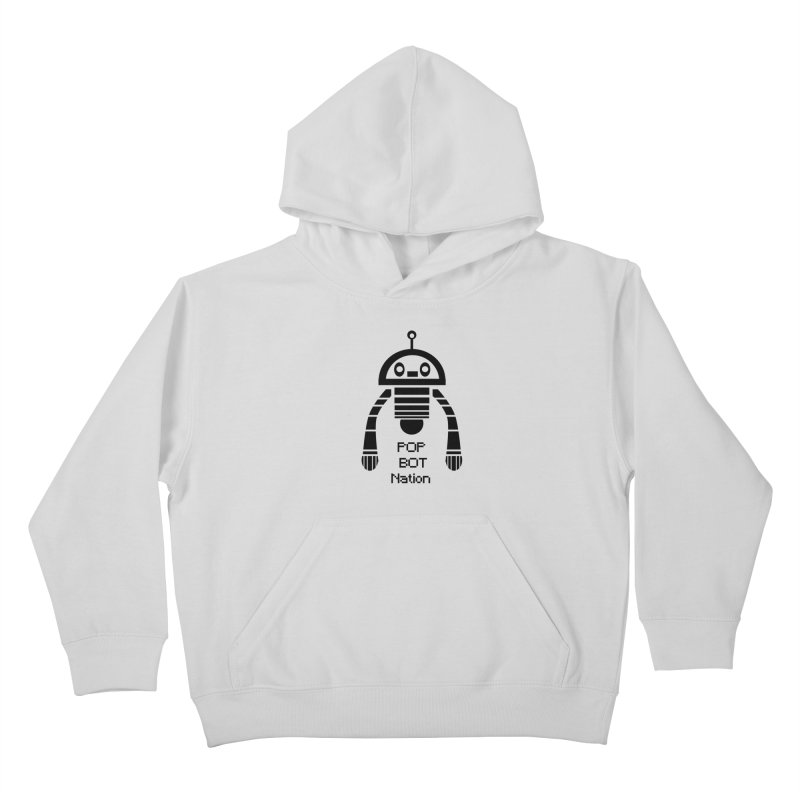 DARK BOT NATION Kids Pullover Hoody by POP COLOR BOT