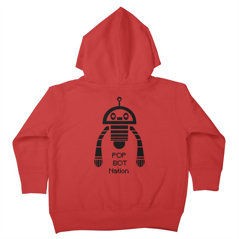 DARK BOT NATION Kids Toddler Zip-Up Hoody by POP COLOR BOT