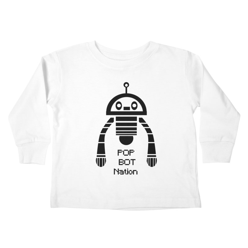 DARK BOT NATION Kids Toddler Longsleeve T-Shirt by POP COLOR BOT