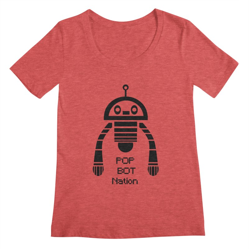 DARK BOT NATION Women's Scoopneck by POP COLOR BOT