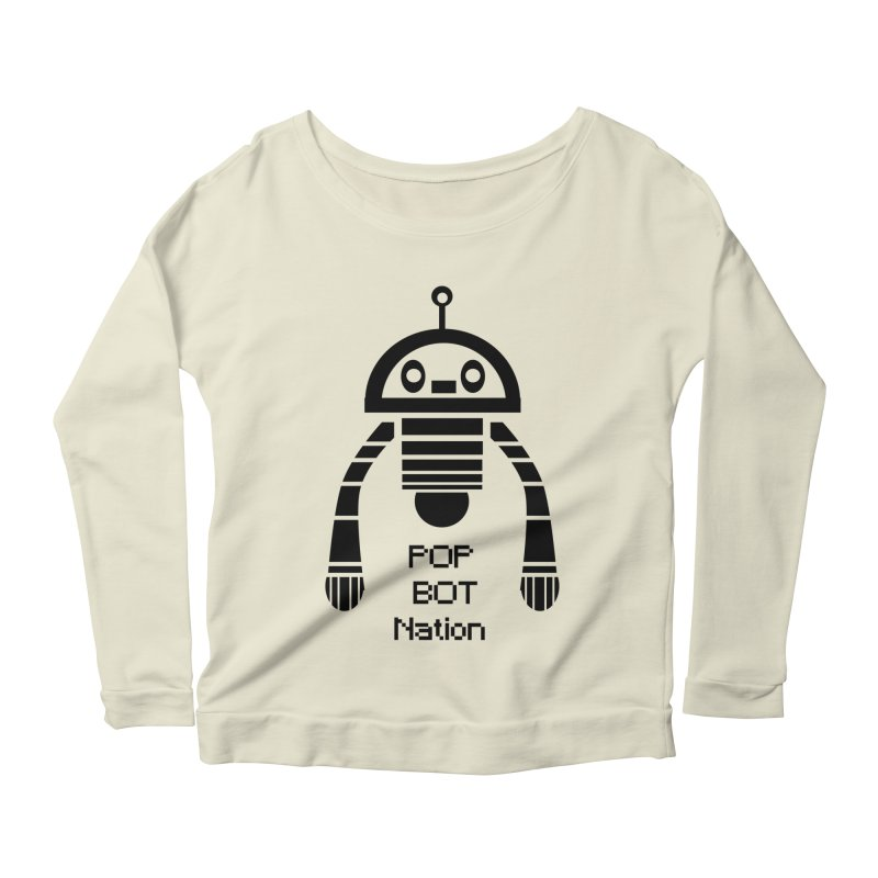 DARK BOT NATION Women's Longsleeve Scoopneck  by POP COLOR BOT