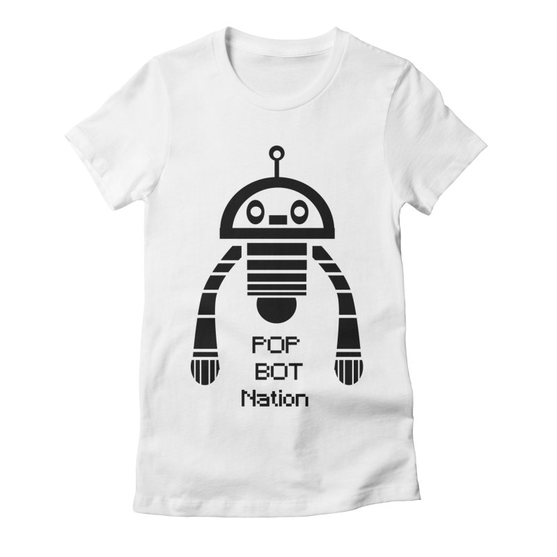 DARK BOT NATION Women's Fitted T-Shirt by POP COLOR BOT