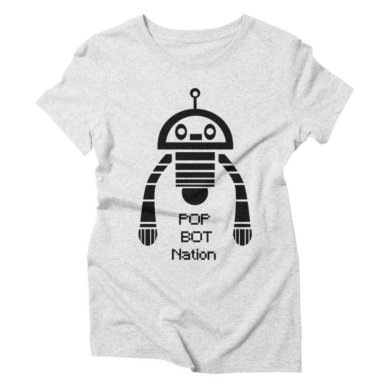 DARK BOT NATION Women's Triblend T-Shirt by POP COLOR BOT