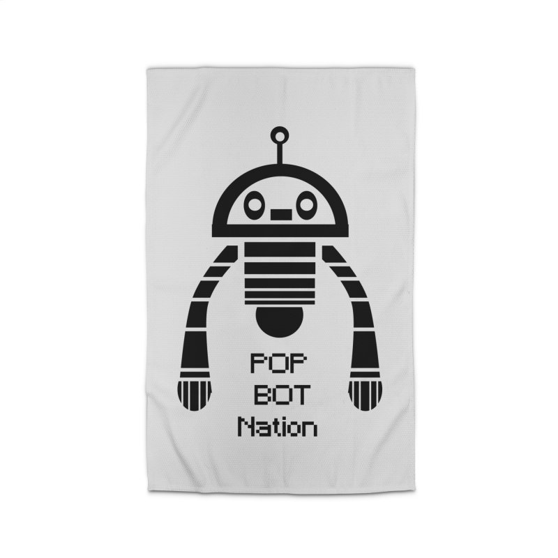 DARK BOT NATION Home Rug by POP COLOR BOT