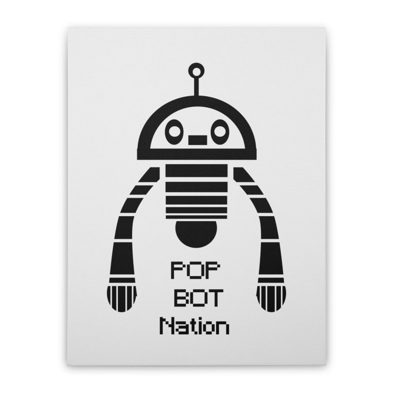 DARK BOT NATION Home Stretched Canvas by POP COLOR BOT
