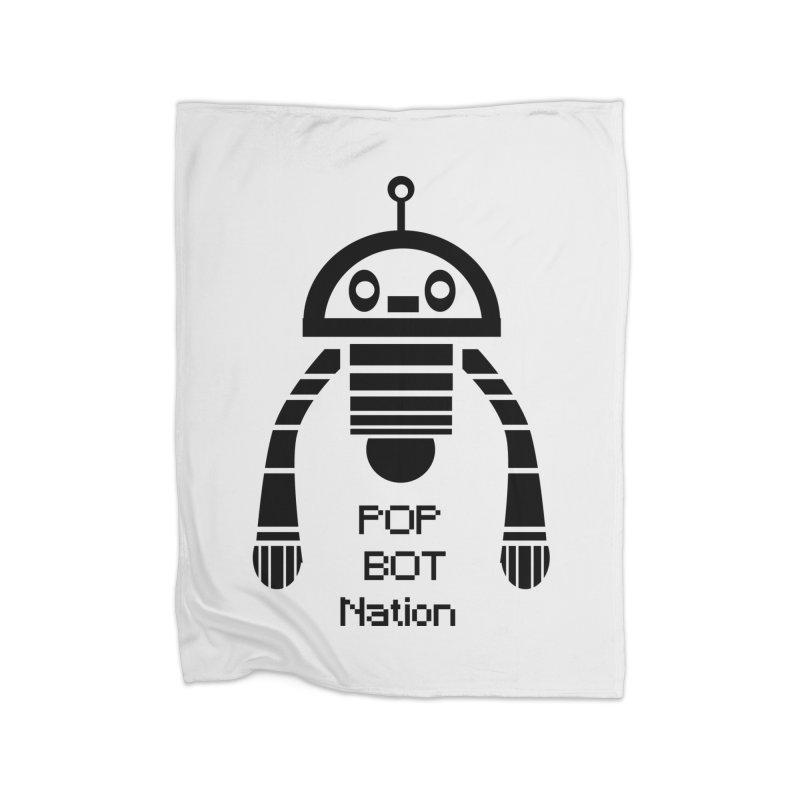 DARK BOT NATION Home Blanket by POP COLOR BOT