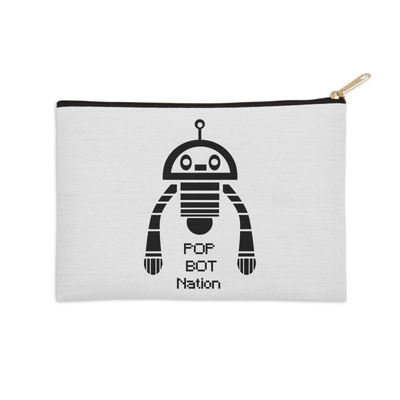 DARK BOT NATION Accessories Zip Pouch by POP COLOR BOT