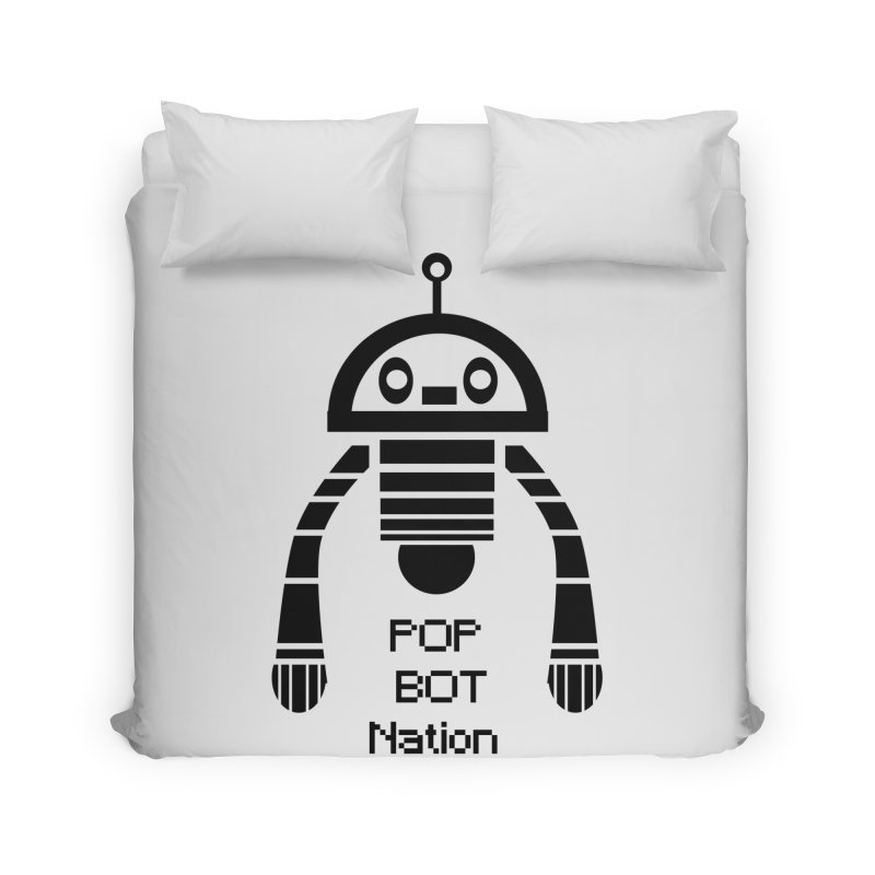DARK BOT NATION Home Duvet by POP COLOR BOT