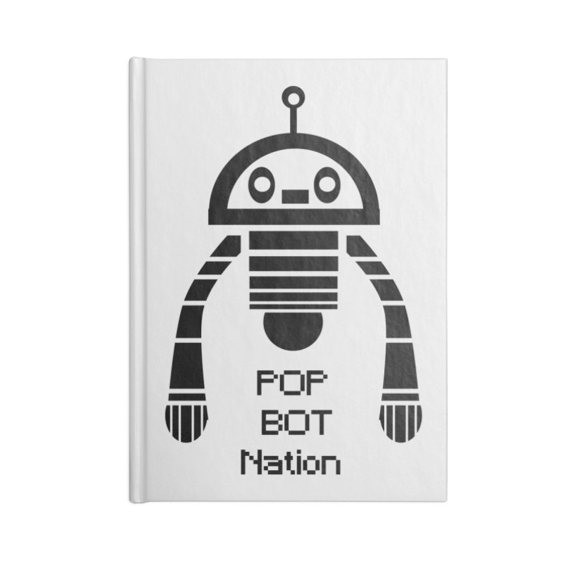 DARK BOT NATION Accessories Notebook by POP COLOR BOT