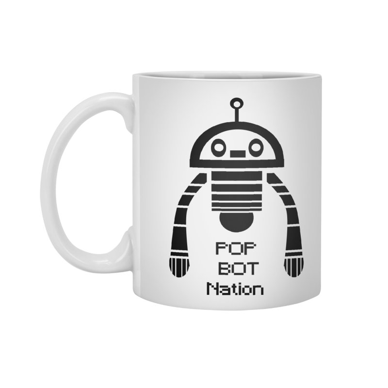 DARK BOT NATION Accessories Mug by POP COLOR BOT
