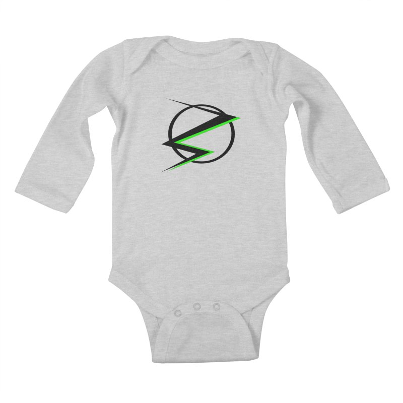 Radioactive speedster Kids Baby Longsleeve Bodysuit by POP COLOR BOT