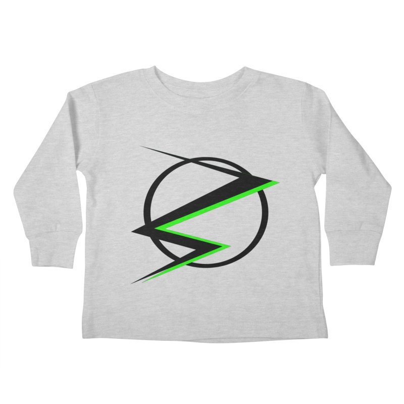 Radioactive speedster Kids Toddler Longsleeve T-Shirt by POP COLOR BOT