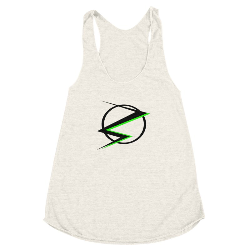 Radioactive speedster Women's Racerback Triblend Tank by POP COLOR BOT