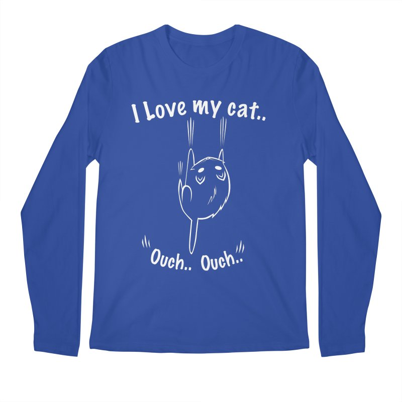 I LOVE MY CAT.. OUCH.. Men's Longsleeve T-Shirt by POP COLOR BOT