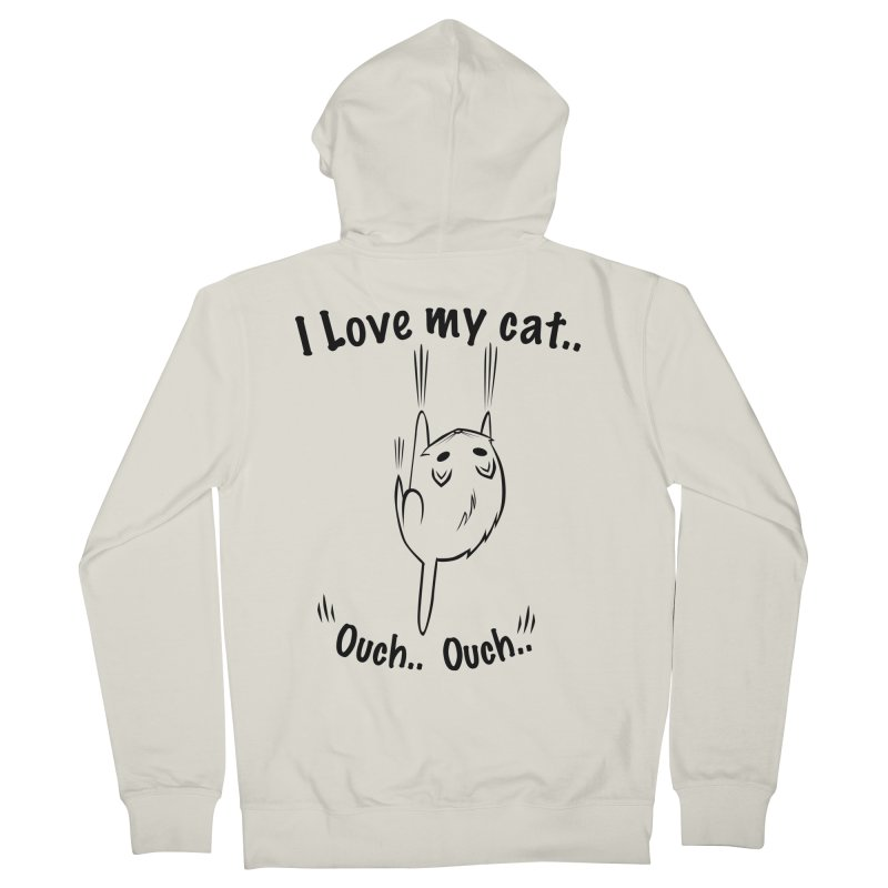 Kitty Love Ouch.. Men's Zip-Up Hoody by POP COLOR BOT
