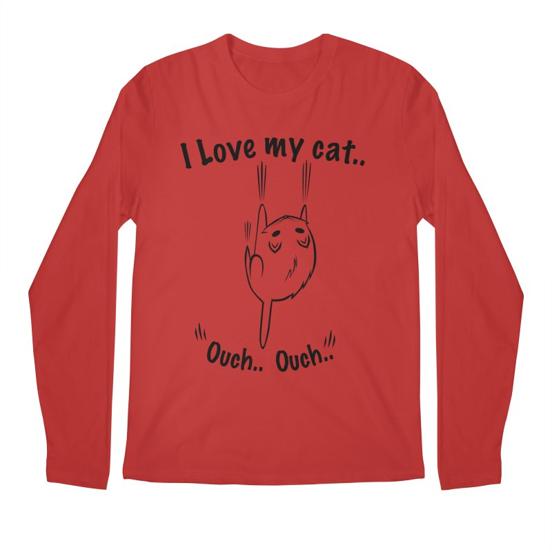 Kitty Love Ouch.. Men's Longsleeve T-Shirt by POP COLOR BOT