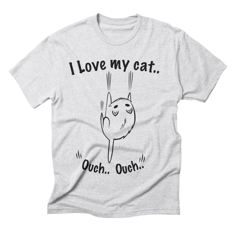 Kitty Love Ouch.. Men's Triblend T-shirt by POP COLOR BOT