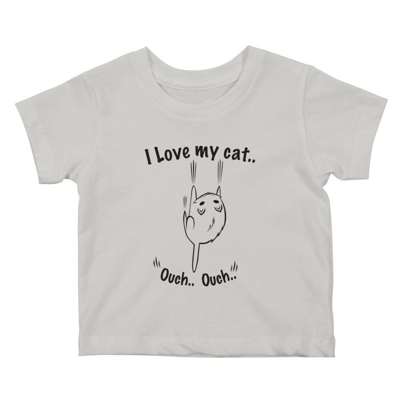 Kitty Love Ouch.. Kids Baby T-Shirt by POP COLOR BOT