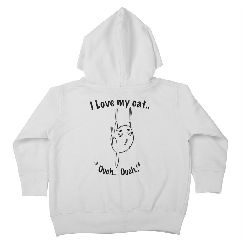 Kitty Love Ouch.. Kids Toddler Zip-Up Hoody by POP COLOR BOT