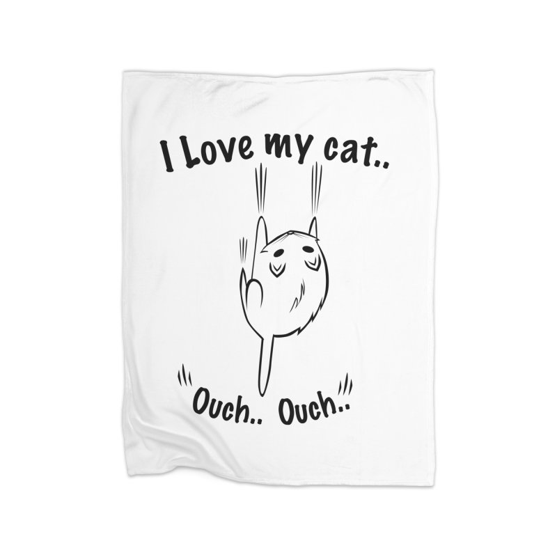 Kitty Love Ouch.. Home Blanket by POP COLOR BOT