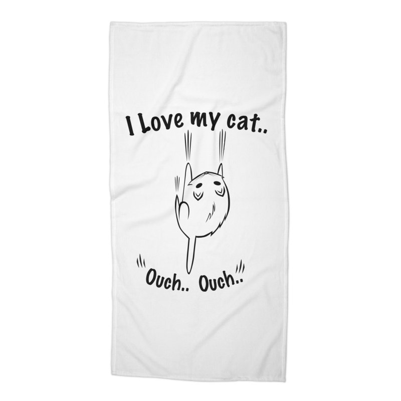 Kitty Love Ouch.. Accessories Beach Towel by POP COLOR BOT