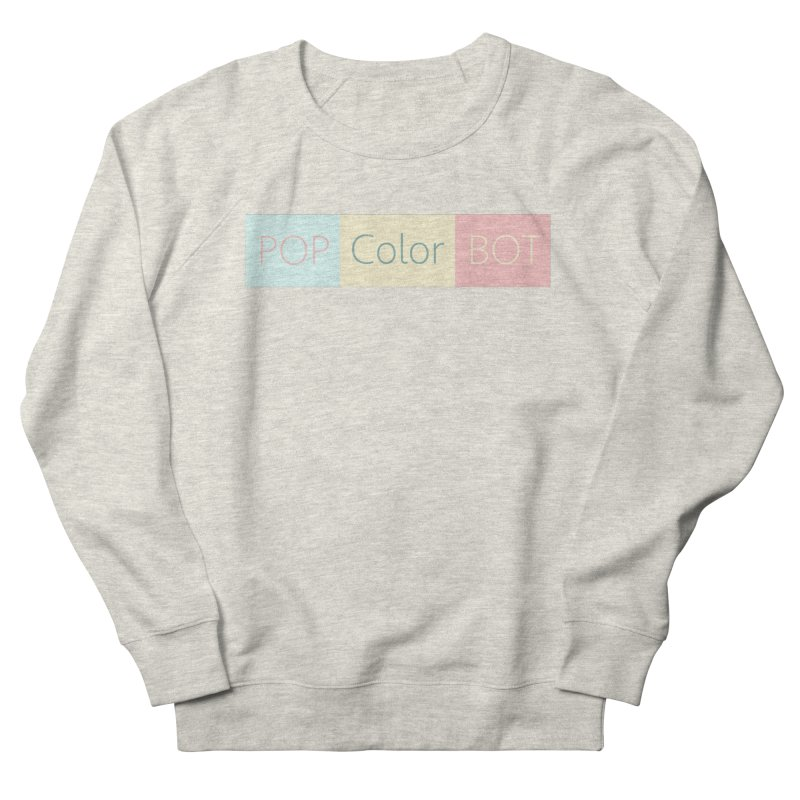 POP COLOR BOT Men's French Terry Sweatshirt by POP COLOR BOT