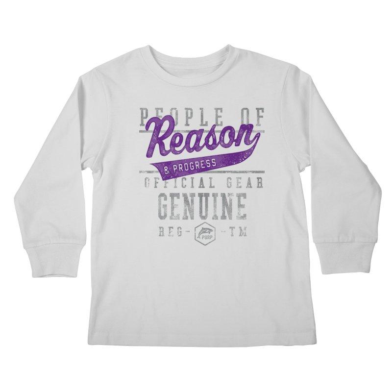 PORP Athletic Design Kids Longsleeve T-Shirt by PORPMerch's Artist Shop
