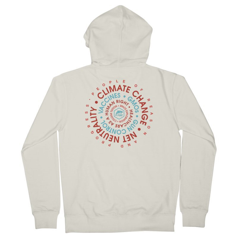 PORP Word Circle Men's French Terry Zip-Up Hoody by PORPMerch's Artist Shop
