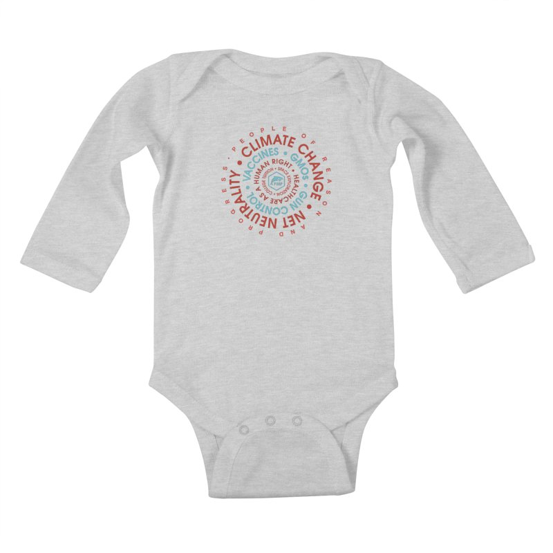 PORP Word Circle Kids Baby Longsleeve Bodysuit by PORPMerch's Artist Shop