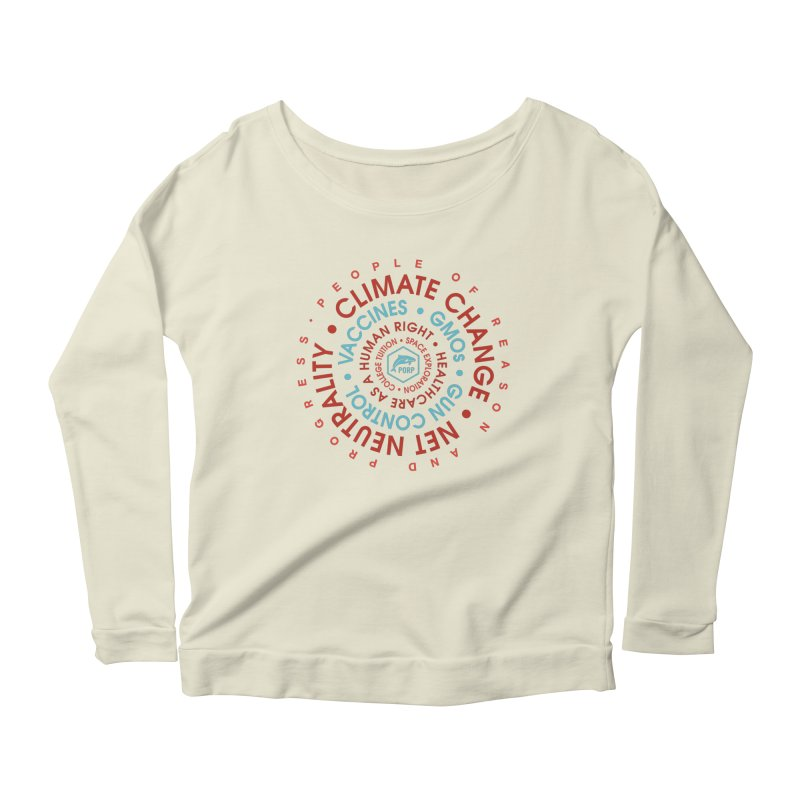 PORP Word Circle Women's Scoop Neck Longsleeve T-Shirt by PORPMerch's Artist Shop