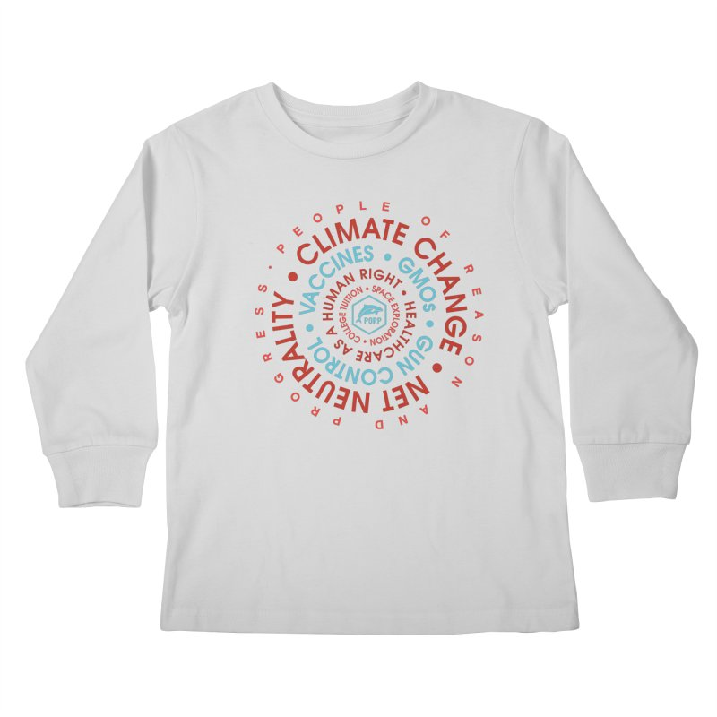 PORP Word Circle Kids Longsleeve T-Shirt by PORPMerch's Artist Shop