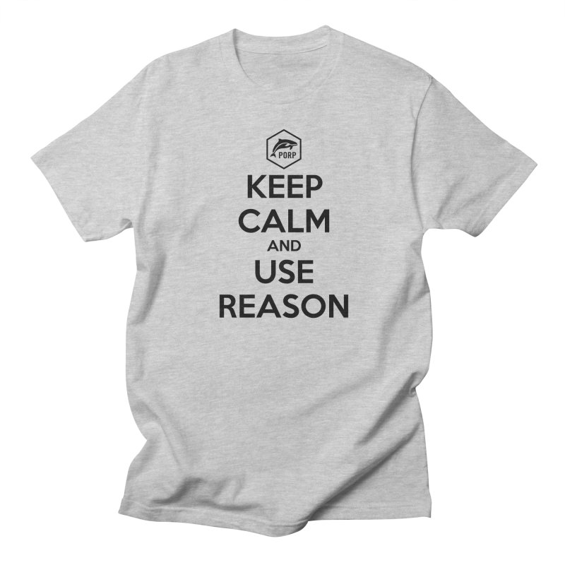 Keep Calm and Use Reason on Lights in Men's Regular T-Shirt Heather Grey by PORPMerch's Artist Shop