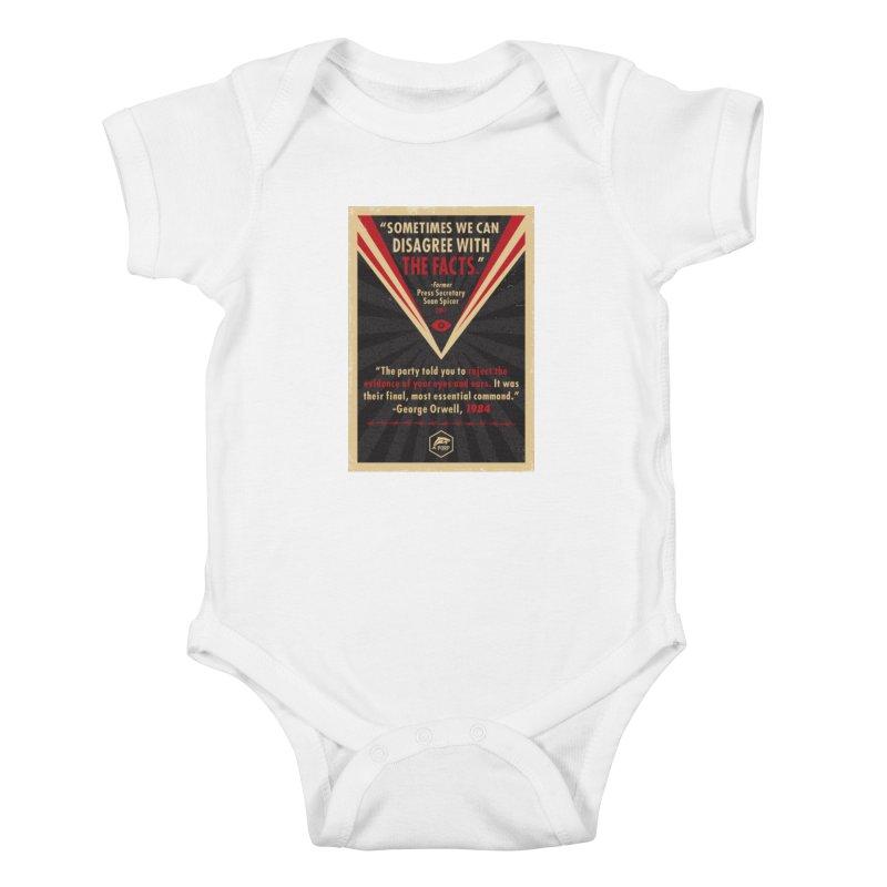 PORP Orwellian Poster Kids Baby Bodysuit by PORPMerch's Artist Shop