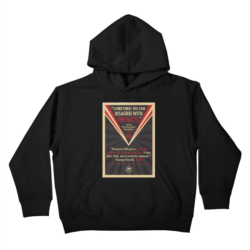 PORP Orwellian Poster Kids Pullover Hoody by PORPMerch's Artist Shop