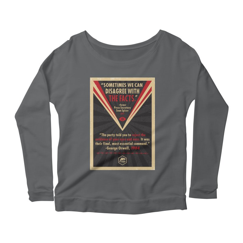 PORP Orwellian Poster Women's Scoop Neck Longsleeve T-Shirt by PORPMerch's Artist Shop